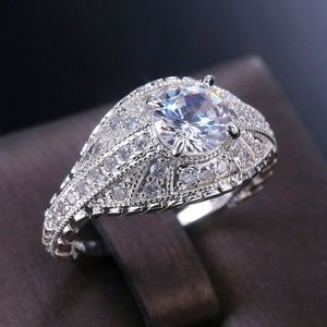 White Sapphire Fashion Engagement Ring